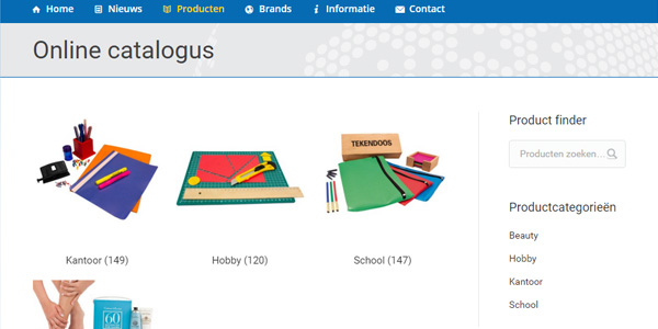 Nieuwe online catalogus