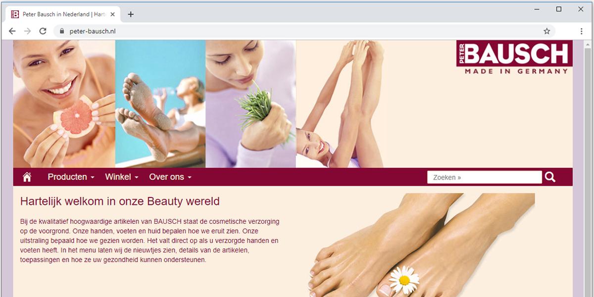 webshop Peter Bausch