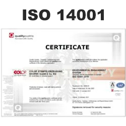 COLOP ISO 14001